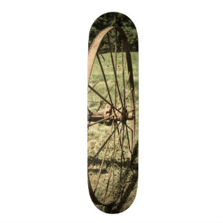 Hay Rake Wheel Aged Skateboard
