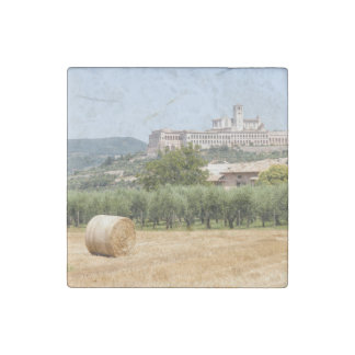 Hay roll and monastery stone magnets