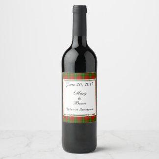 Hay Scottish Wedding Wine Label