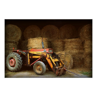 hay tractor poster