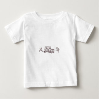 Hay Trucking Outline Baby T-Shirt