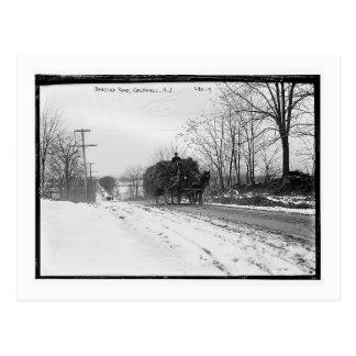 Hay Wagon, Bobsled Road, Caldwell, NJ Vintage Postcard