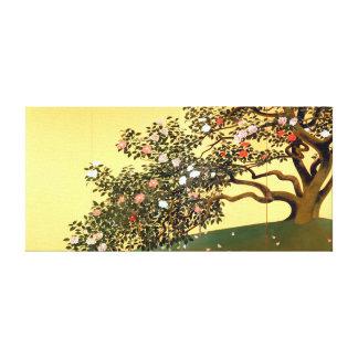 Hayami Gyoshū Camellia Blossoms Canvas Print