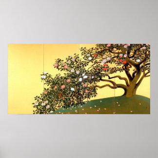 Hayami Gyoshū Camellia Blossoms Poster