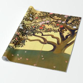Hayami Gyoshū Camellia Blossoms Wrapping Paper
