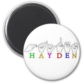 HAYDEN  FINGERSPELLED ASL AMERICAN SIGN MAGNET