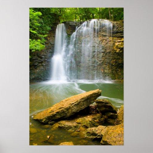 Hayden Run falls, Columbus, Ohio Poster