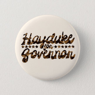 Hayduke for Governor Retro Floral 2 Inch Round Button