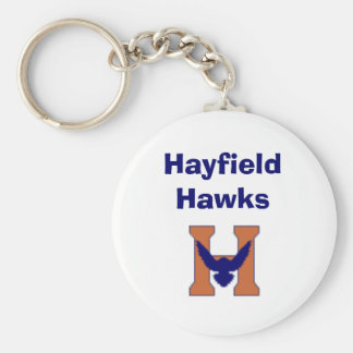 Hayfield Hawks Basic Round Button Keychain