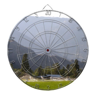 Hayfield irrigation in the mountains of BC Dartboard
