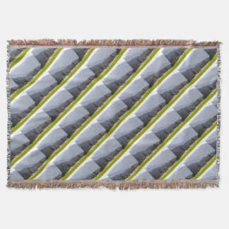 Hayfield irrigation in the mountains of BC Throw Blanket