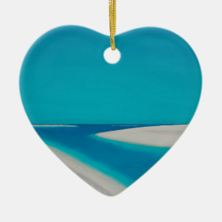 Hayle esturary. ceramic heart ornament