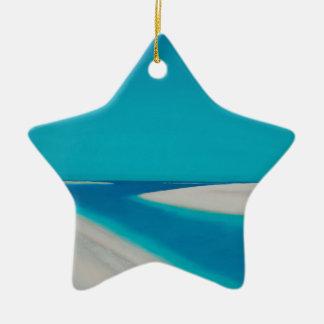 Hayle esturary. ceramic star ornament