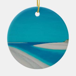 Hayle esturary. round ceramic ornament