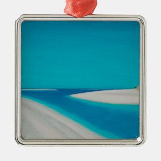 Hayle esturary. Silver-Colored square ornament