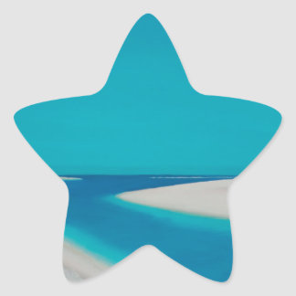 Hayle esturary. star sticker