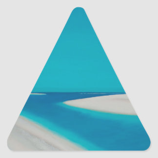 Hayle esturary. triangle sticker