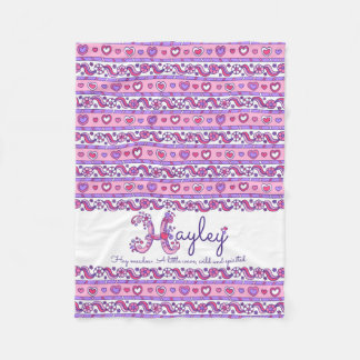 Hayley personalized H name meaning kids blanket
