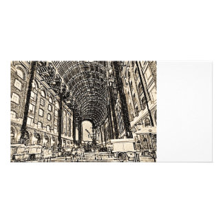 Hays Galleria London Sketch Customized Photo Card
