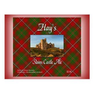 Hay's Slains Castle Ale Postcard