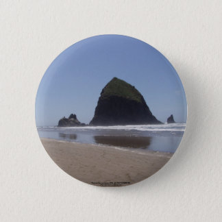 Haystack Rock 2 Inch Round Button