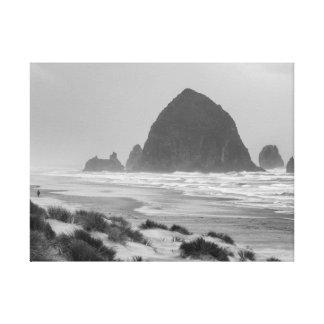 Haystack Rock at Cannon Beach Canvas Print