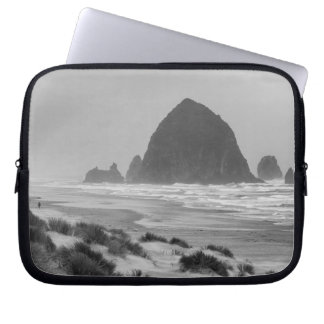 Haystack Rock at Cannon Beach Laptop Sleeve