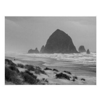 Haystack Rock at Cannon Beach Poster