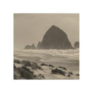 Haystack Rock at Cannon Beach Wood Print