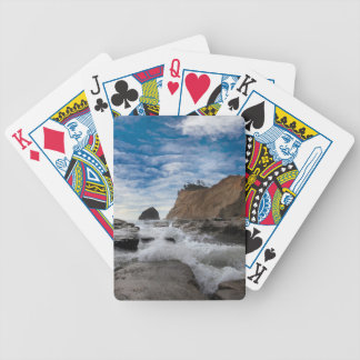 Haystack Rock at Cape Kiwanda Oregon coast USA Bicycle Playing Cards