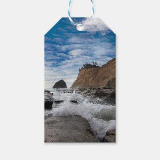 Haystack Rock at Cape Kiwanda Oregon coast USA Gift Tags