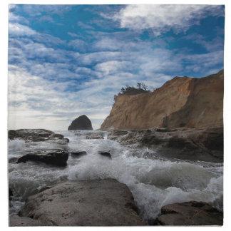 Haystack Rock at Cape Kiwanda Oregon coast USA Napkin