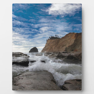 Haystack Rock at Cape Kiwanda Oregon coast USA Plaque