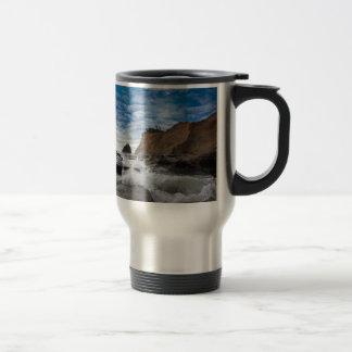 Haystack Rock at Cape Kiwanda Oregon coast USA Travel Mug
