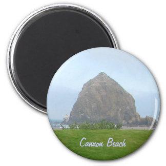 Haystack Rock, Cannon Beach 2 Inch Round Magnet