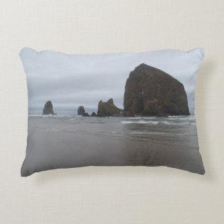 Haystack Rock Cannon Beach Oregon Coast Pillow