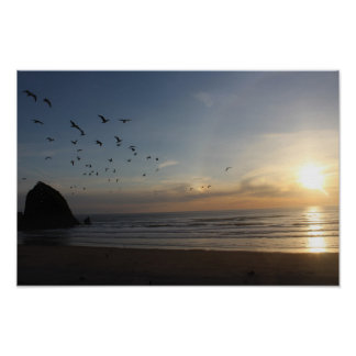 Haystack Rock, Cannon Beach Oregon Poster