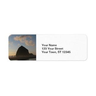 Haystack Rock, Cannon Beach Return Address Label