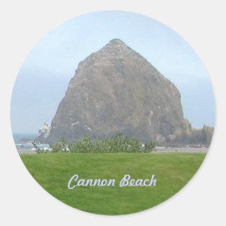 Haystack Rock, Cannon Beach Round Sticker