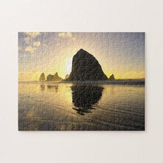 Haystack Rock Oregon Jigsaw Puzzle