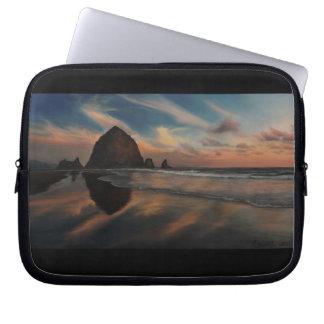 Haystack Rock Painting Laptop Sleeve
