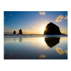 Haystack Rock Sunset - Cannon Beach, Oregon Postcard