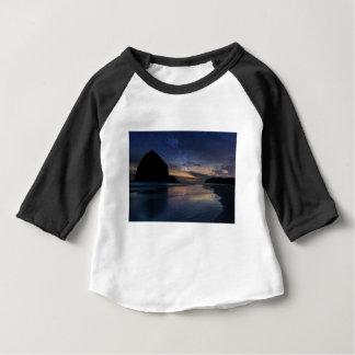 Haystack Rock under Starry Night Sky Baby T-Shirt