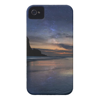 Haystack Rock under Starry Night Sky iPhone 4 Case-Mate Cases