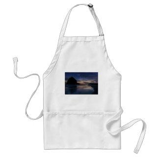 Haystack Rock under Starry Night Sky Standard Apron