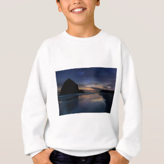 Haystack Rock under Starry Night Sky Sweatshirt