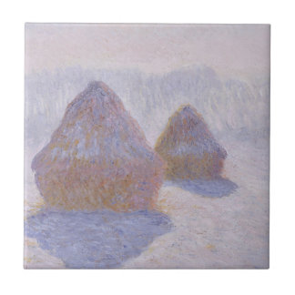 Haystacks Effect of Snow and Sun Tile