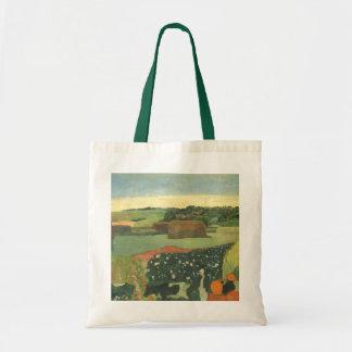 Haystacks in Brittany by Paul Gauguin, Vintage Art