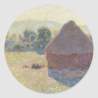 Haystacks in the Sunlight, Midday (1890) Classic Round Sticker