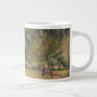 Haystacks, Morning, Eragny Large Coffee Mug